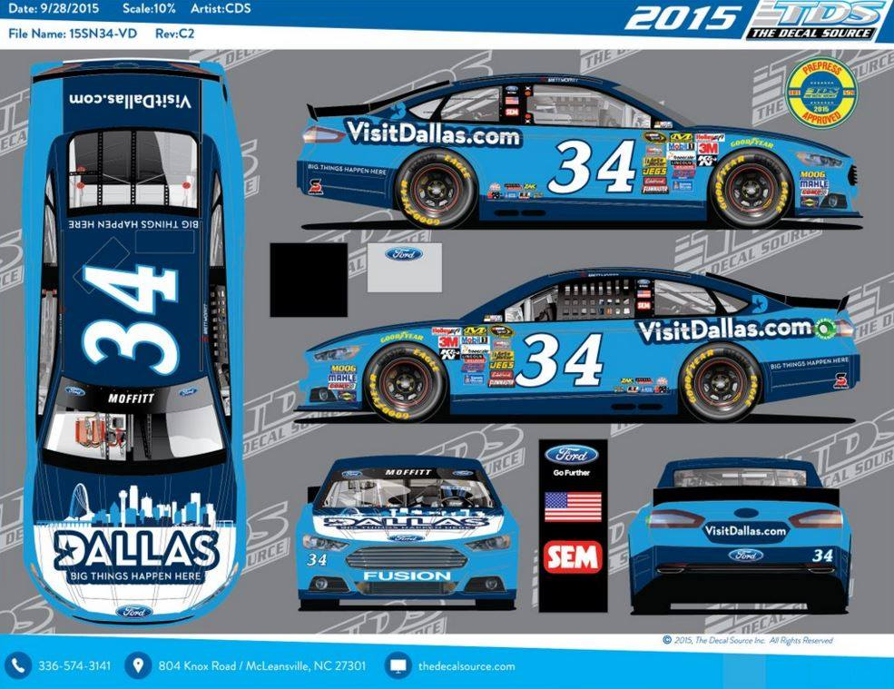 Moffitt's No. 34 to Encourage Fans to 'Visit Dallas'