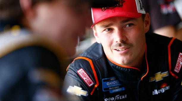 Brett Moffitt drives No. 23 Chevrolet Silverado to second-place finish at Kansas Speedway