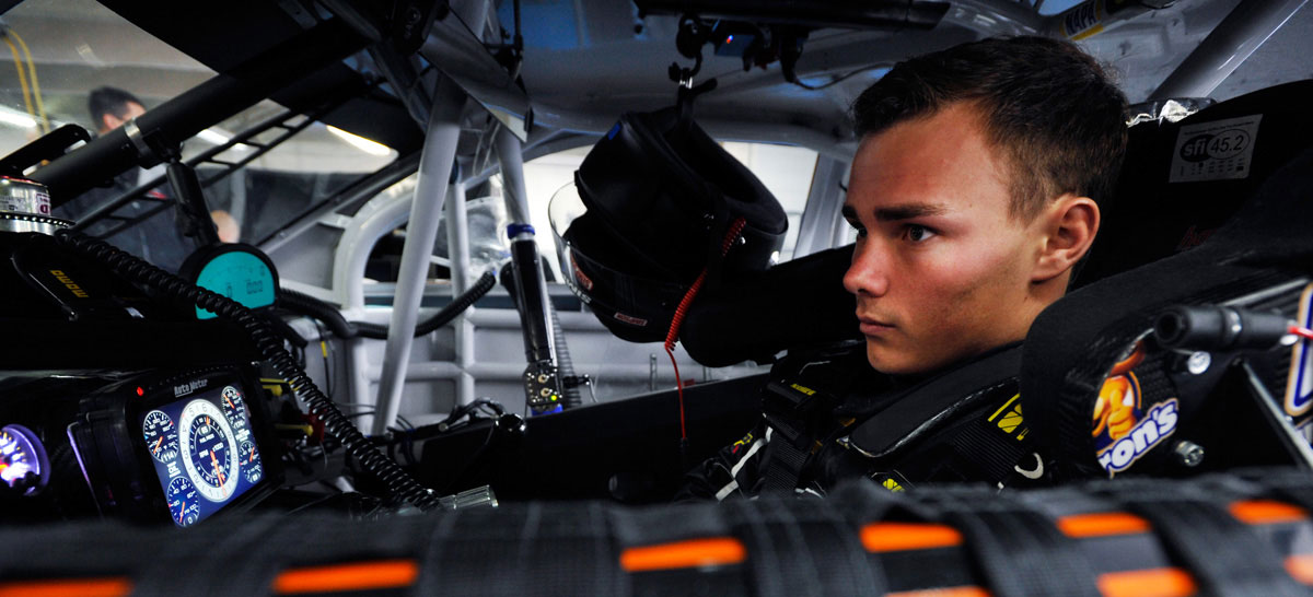 DRIVEN TO SUCCEED<br/> <em>Follow Brett Moffitt in the 2015 Sprint Cup Series</em>  »